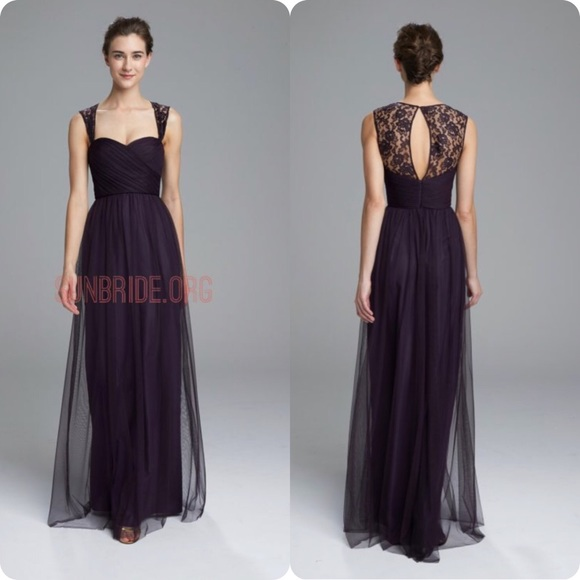 Amsale Dresses Tulle Lace Bridesmaid Formal Dress Size 8 Poshmark